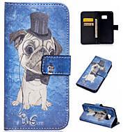Voor Samsung Galaxy hoesje Kaarthouder / met standaard / Flip / Patroon / Magnetisch hoesje Volledige behuizing hoesje Hond PU-leer