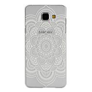 For Samsung Galaxy etui Kortholder Med stativ Flip Mønster Magnetisk Etui Bagcover Etui Mandala-mønster PC for SamsungA7(2016) A5(2016)