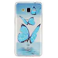For Samsung Galaxy etui Transparent Mønster Etui Bagcover Etui Sommerfugl TPU for Samsung J5 Grand Prime Core Prime