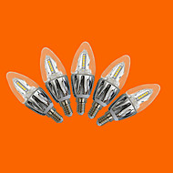 5W E14 Luzes de LED em Vela C35 20 SMD 3528 440 lm Branco Quente Decorativa AC 220-240 V 5 pçs
