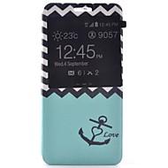 Mert Samsung Galaxy tok Állvánnyal / Betekintő ablakkal / Minta Case Teljes védelem Case Horgony Műbőr SamsungA7(2016) / A5(2016) /