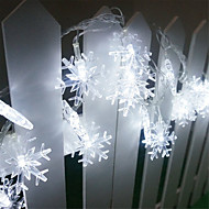 King Ro 30LED Solar Xmas Snowflake Decorative String Light(KL0029-RGB,White,Warm White)