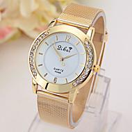 relógio rede de ouro das senhoras com relógio de diamantes