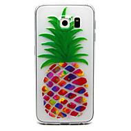 For Samsung Galaxy S7 Edge Transparent Præget Etui Bagcover Etui Frugt TPU for Samsung S7 edge S7 S6