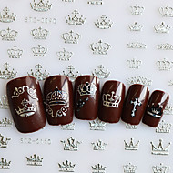 1pcs  12 Designs 3d Stickers Gold/Silver Imperial Crown Sticker Nail Art  DIY Decals STZ001-012DS