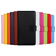 Varten Samsung Galaxy kotelo Korttikotelo / Tuella / Flip / Magneetti Etui Kokonaan peittävä Etui Yksivärinen Tekonahka SamsungA3(2016) /