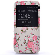 For Samsung Galaxy S7 Edge Med vindue Flip Etui Heldækkende Etui Blomst Kunstlæder for Samsung S7 plus S7 edge S7