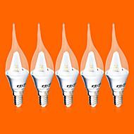 Luces LED en Vela FSL C35 E14 3W 9 SMD 3528 220 LM Blanco Cálido / Blanco Fresco AC 100-240 V 5 piezas