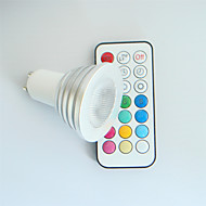 4W GU10 Focos LED MR16 1 LED de Alta Potencia 300 lm RGB Regulable / Control Remoto / Decorativa AC 100-240 V 1 pieza