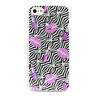 Lip Prints Pattern Silicone Soft Case for iPhone5/5S