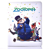 Crazy Animals Pattern PU Leather Case with Stand and Card Slot for iPad 4/3/2