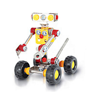 Jigsaw Puzzles 3D Puzzles / Metal Puzzles Building Blocks DIY Toys Robot 89pcs Metal Red / Yellow / Silver Model & Building Toy