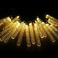rei ro 6,6 pés 20led bateria operado água da bolha vara levou luzes cadeia natal (kl0060-rgb, branco, branco quente)