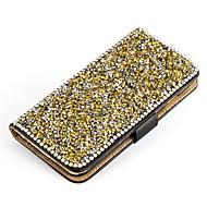 stand portefeuille cristal bling cuir de diamant de couverture de cas pour samsung galaxy j5