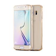 Na Samsung Galaxy S7 Edge Galwanizowane / Przezroczyste Kılıf Etui na tył Kılıf Jeden kolor TPU SamsungS7 edge / S7 / S6 edge plus / S6