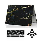 """3 en 1 caso de mármol de cuerpo completo + cubierta del teclado + enchufe del polvo para el MacBook Pro de 13 """"/ 15"""""""