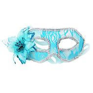dentelle sexy fleur des femmes&plumes face à masque pour soirée dansante