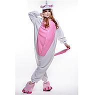 Kigurumi Pajamas New Cosplay® / Unicorn Leotard/Onesie Festival/Holiday Animal Sleepwear Halloween Pink Patchwork Polar Fleece Kigurumi