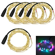 Jiawen 5pcs/lot  5M Waterproof Flexible 3W 50-0603 SMD RGB LED String Light - Silver (DC 12V)