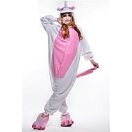 Kigurumi Pajamas Unicorn Leotard/Onesie Halloween Animal Sleepwear Pink Patchwork Polar Fleece Kigurumi Unisex Halloween