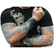 δροσερό 10pcs ψεύτικο προσωρινή μανίκια τατουάζ τέχνη του σώματος κάλτσες βραχίονα Αξ
