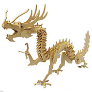 Jigsaw Puzzles 3D Puzzles / Wooden Puzzles Building Blocks DIY Toys Dragon Wood Beige Model & Building Toy