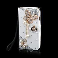 cristal bling de luxe&diamant sac en cuir flip pour samsunggalaxygalaxys2 / s3 / s4 / s5 / S6 / S6E / s7 / S6E plus (couleurs