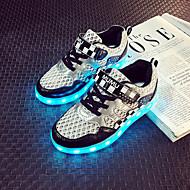 (Svart / Blå / Grønn / Rosa) -Rund tå-Trendy sneakers-Kunstlær- CBOY