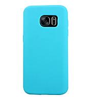 Voor Samsung Galaxy S7 Edge Schokbestendig hoesje Achterkantje hoesje Effen kleur Siliconen voor Samsung S7 S6