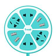 trozk multifunções carregamento filtro de linha 4 saída 4 hub USB carregador de tomada inteligente placa de linha azul rosa verde amarelo