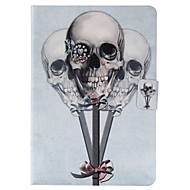 For Samsung Galaxy Case Card Holder / Wallet / with Stand / Flip / Pattern Case Full Body Case Skull PU Leather SamsungTab 4 8.0 / Tab 4