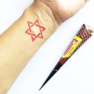 halloween natuurlijke kruiden Kasjmir henna cones tijdelijke tattoo kit mehndi kaveri (rood)