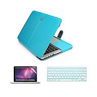 3 en 1 bolso de la caja del ordenador portátil de cuero de la PU con el protector de pantalla y la cubierta del teclado para el macbook 11
