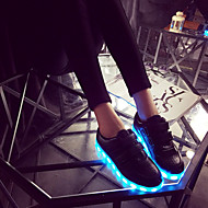 Women's / Boy's / Girl's Sneakers Spring / Summer / Fall Round Toe Leatherette Outdoor / Athletic / Casual Flat Heel Magic Tape / LED