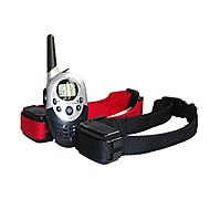 impermeabile cane a distanza LCD ricaricabile collare di addestramento del cane addestratore 1000m shock elettrico per due cani