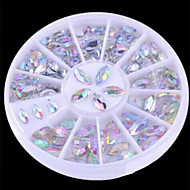 New 2 Sizes Colorful Nail Art Rhinestone Decoration/Beautiful Transparent Glitter Decoration for Nails
