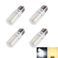 4W E26/E27 LED Mais-Birnen T 56/pcs SMD 5730 240 lm Warmes Weiß / Kühles Weiß Dekorativ AC 220-240 V 4 Stück