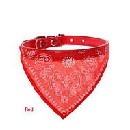 Katter / Hundar Halsband Röd / Svart / Blå PU Läder
