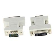 VGA SVGA RGB de 15 pinos macho para DVI -i 24 + 5 do sexo feminino bege adaptador para placa de vídeo