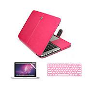 3 en 1 caja del ordenador portátil de cuero de la PU con el protector de pantalla y la cubierta del teclado para MacBook MacBook Pro 13 ''