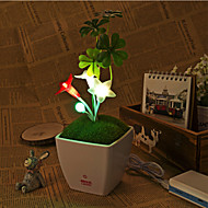 USB DC5V LED Five-angle Flower Night Light Touch Dimming LED Dimmable Lamp