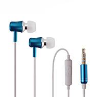 corriendo auriculares deportivos en la oreja los auriculares de aislamiento de sonido de los auriculares con micrófono para teléfonos