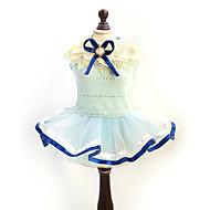 猫用品 / 犬用品 ドレス イエロー / ブルー 犬用ウェア 夏 / 春/秋 蝶結び ファッション