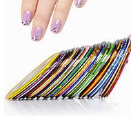 10pcs Nail Striping Tape Metallic Yarn Line 3d Nail Art Tool Color Rolls Nail Decals DIY Nail Tips Sticker Decoration