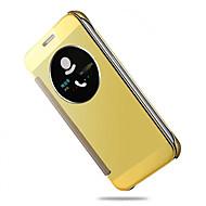 Mert Samsung Galaxy S7 Edge Betekintő ablakkal / Automatikus készenlét/ébresztés / Galvanizálás / Tükör / Flip Case Teljes védelem Case