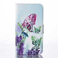 Butterfly Painted PU Phone Case for Galaxy S5/S6/S6edge