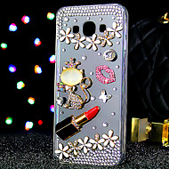 For Samsung Galaxy Case Rhinestone / Transparent Case Back Cover Case Cat Acrylic Samsung A7 / A5