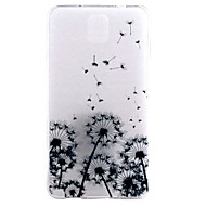 For Samsung Galaxy Note Transparent Mønster Etui Bagcover Etui Mælkebøtte TPU for Samsung Note 5 Note 4 Note 3