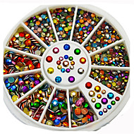 Manicure Jewelry 6CM Colorful Color Box