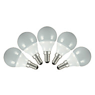 3W E14 / E26/E27 LED Globe Bulbs G60 5pcs SMD 2835 200 lm Warm White / Cool White AC 220-240 V 5 pcs